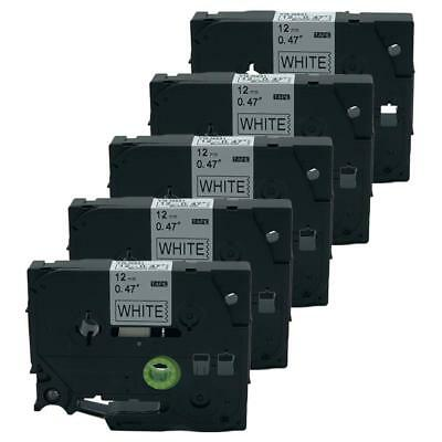 5PK Compatible Brother P-Touch Label Tape Cartridge Tz TZe-N231 Black on White