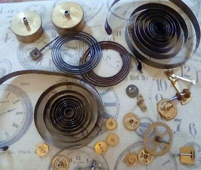 Vintage clock parts for craft steam punk projects