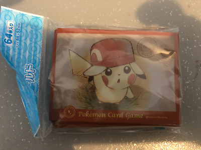 Pokemon 64 Sleeves Officielles Pikachu Casquette de Kalos Cartes Pokemon Neuves