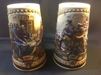Miller Steins 1776 Lot Of Two 1992 1993
