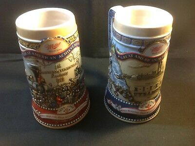 Miller Steins 1988, 1989 Collector Lot Of Two