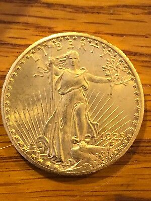 1925 $20 GOLD DOLLAR Double Eagle COIN, SAINT- GAUDENS, Very Nice
