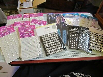 Bundle Of Beautiful Adhesive Gem & Pearl Wave Strips, Create & Craft Gems Etc