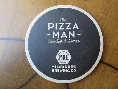 Pizza Man Milwaukee Brewing Co Beer Coaster