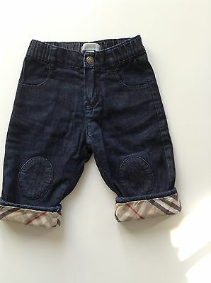 Pre-Loved 100% Genuine By Burberry Baby Boy Jeans With Logo. 6 Months