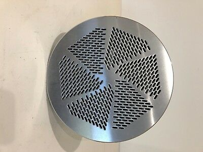 Circular, chrome finished floor vent