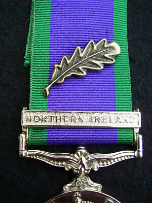 British UK Forces Military CSM Northern Ireland Medal Ribbon Bronze MID Oak Leaf