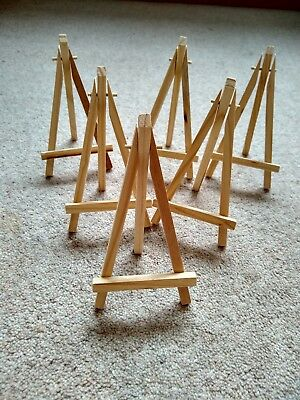 Set of 6 Small Wooden Easels