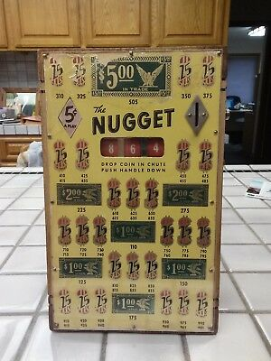 Vintage 1937 Bally Nugget Nickel Coin Op Trade Stimulator Slot Machine