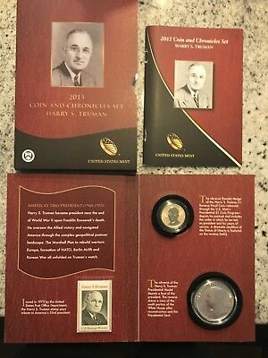 2015 TRUMAN COIN AND CHRONICLES COIN SET >>Reverse Proof $$ and Silver MEDAL