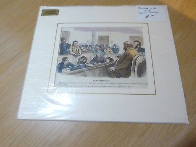 Funny Antique Mounted Coloured Punch Cartoon (Golf/golfing) *free P&p*
