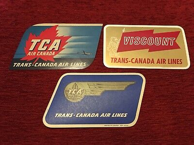 TCA Airlines    Vintage-Looking   Sticker//Decal//Luggage Label Trans-Canada