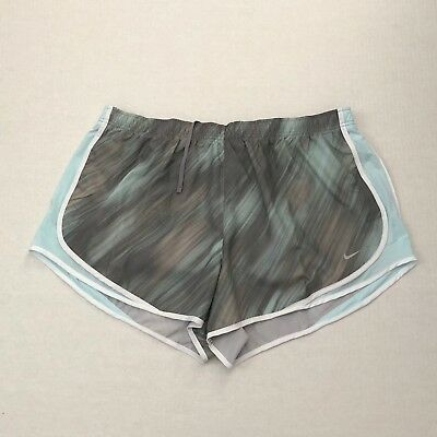 NWT Nike Women's Size 2X Gray Plus SIze DRI-FIT Athletic Tempo Running Shorts
