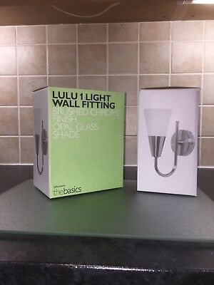 LULU Brushed Chrome wall lights from John Lewis - Pair