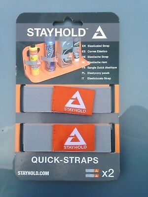 STAYHOLD Quick Straps x4 Grey For Stay Hold Boot Organiser Car Tidy SH006 2 PAIR