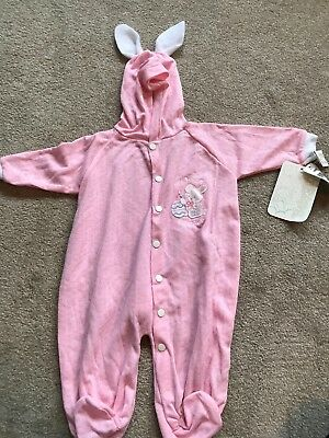 Vintage Babygro Baby Sleeper 11-17 lbs. Pink Bunny- Great Halloween Costume Too!