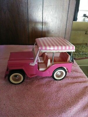 Vintage 1960s Tonka Toys Pink Willys Jeep Surrey #250  wonderful condition