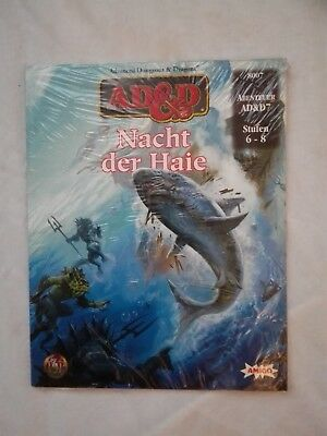 Tsr Ad&d Advanced Dungeons & Dragons Ad&d7 Nacht Der Haie Ovp In Folie