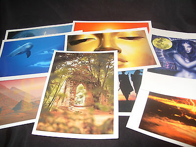 """Collection Of 10 New Age Photo Prints 8"""" X 5.5"""" In Size"""