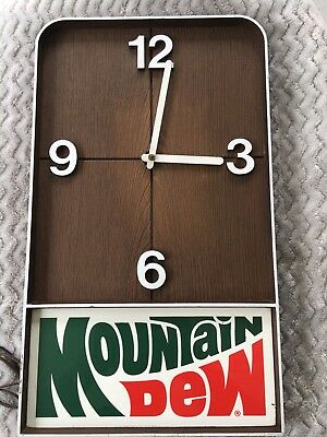 Vtg Mountain Dew Clock. Works!