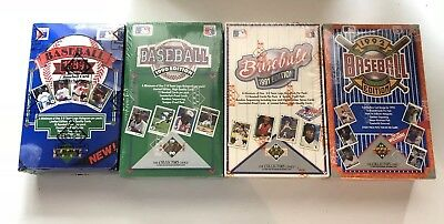 Lot of 4 Upper Deck Boxes 1989 Low BBCE Sealed 1990 1991 1992 Factory Sealed