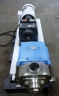 Waukesha Model 130 Stainless Steel Positive Displacement Pump Redone