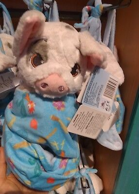 """Disney Parks Pua Moana Baby Plush with Blanket Pouch 10"""" Babies Nwt"""