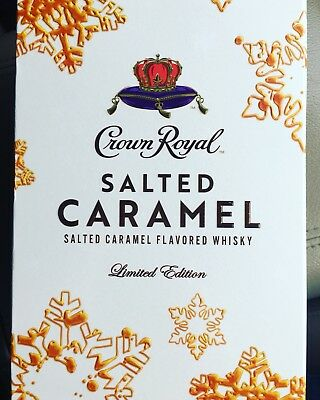 EMPTY Crown Royal Salted Caramel Collectible Bottle & Bag & Box Limuted Edition