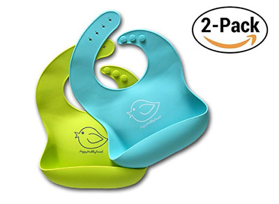 Baby Silicone Waterproof Bib Feeding Kids Cute Soft and Washable Bibs for Babies