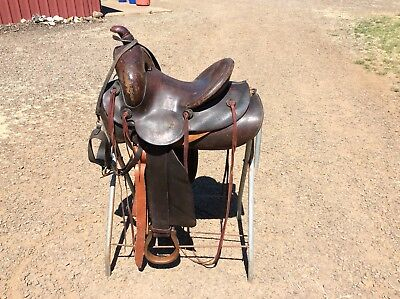 Vintage Connolly Bros Western Saddle Billings Montana