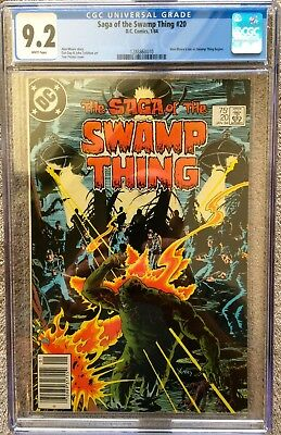 Cgc 9.2 Saga Of The Swamp Thing #20 .. 1St Alan Moore Swamp Thing .. Newsstand .