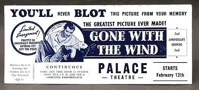 rare GONE WITH THE WIND movie advertising ink blotter unused