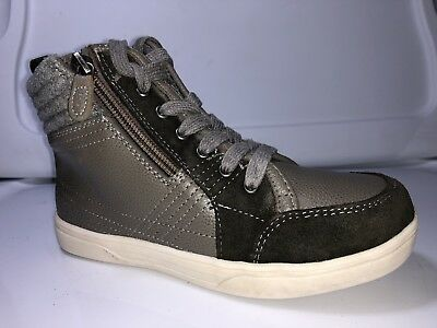 Kenneth Cole Reaction Think Past Gray Boys High Top Shoes Boys Size 12.5 US