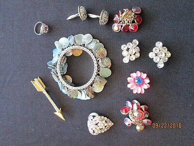 Costume Jewelry 11 Miscellaneous Vintage 2 pieces made in AUSTRIA