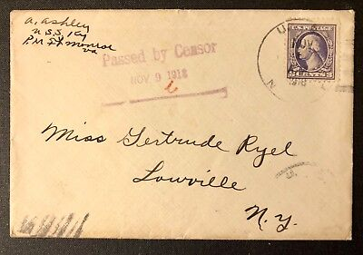 US Navals USS Kentucky 1918 US Navy, passed by censor