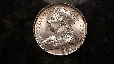 1893 Great Britain Silver Half Crown Unc - Great Coin (M3)