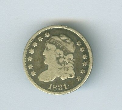 Nice 1831 F Bust Half Dime with Original Surfaces