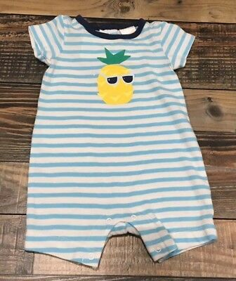 Gymboree 0 3 6 12 18 Pineapple Romper Socks Hat Outfit Outlet Set NWT