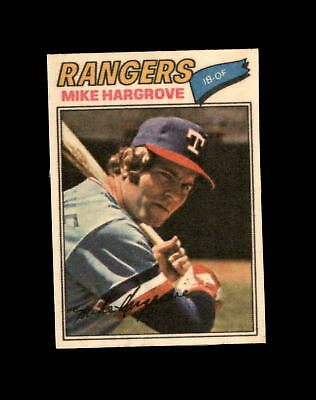 1977 Topps Cloth Stickers #20 Mike Hargrove NM/MT (A01)