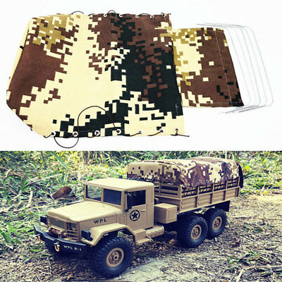 RC Car Truck Canvas Hood Cover Cloth Rope For WPL B24 1/16 Military Vehicle US