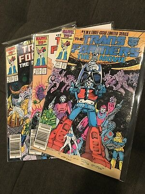 The Transformers The Movie Limited Series #1-3