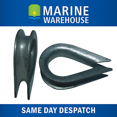"2X 12mm Galvanised Thimble - Boat Marine Spliced Rope Thimble  1/2"" 107018"
