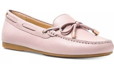 2a5e2a8f3fe New Michael Kors Sutton Moc Moccasin Flats soft Pink loafers bow leather  shoes