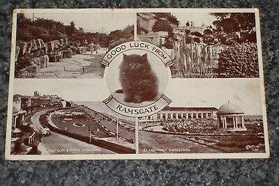 Good Luck From Ramsgate   Multiview   1949  Photo Postcard Vintage Vgc