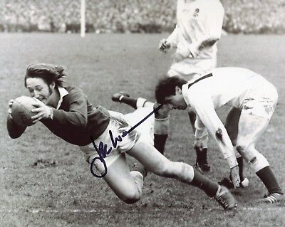 Welsh Rugby Union legend JPR Williams signed 8x10 photo