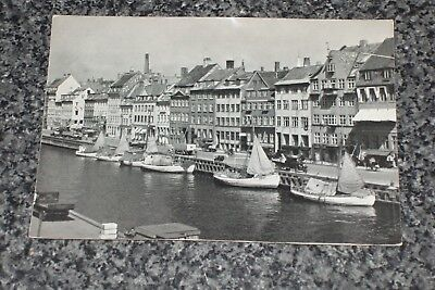 Copenhagen Nyhavn The Canal King's New Square     Postcard Vintage   Vgc