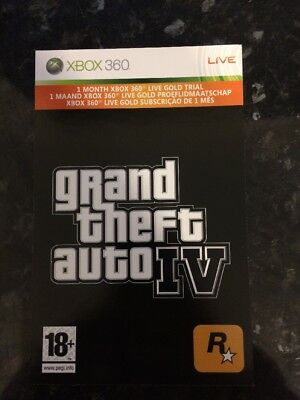 Grand Theft Auto IV Xbox LIVE 1 Month Gold Membership For Microsoft Xbox 360