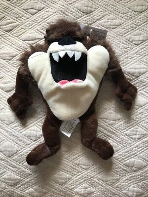 "New Warner Brothers Plush Collectors Tasmanian Devil 8"" Plush Bean Bag"