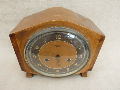 Vintage Smiths Enfield 8 Day Striking Mantel Clock For Tlc