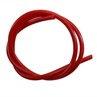 Motorcycle Red 1m 5mm Petrol Fuel Line Pipe Hose Gas Oil Tube For Dirt Bike ATV